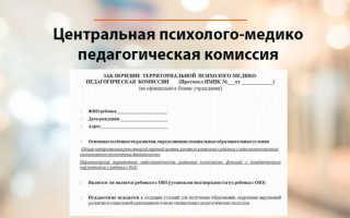 Запись и прохождение комиссии ЦПМПК