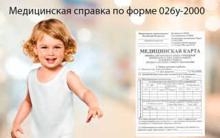 Справка в детский сад по форме 026у