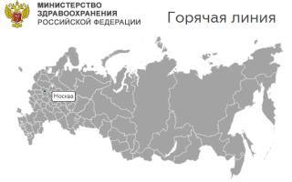 Круглосуточная горячая линия Минздрав для жалоб в России