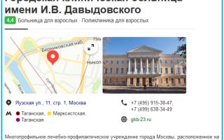 Клиника И. В. Давыдовского: городская больница №23