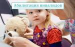 Абилитация и реабилитация инвалидов